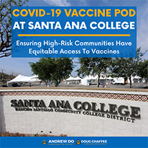 COVID-19 Vaccine POD at Santa Ana College