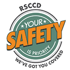 RSCCD We've Got You Covered icon - White background