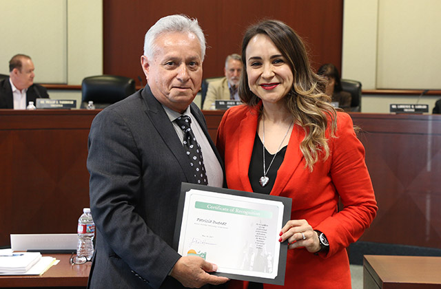 Trustee Zeke Hernandez and Patricia Duenez