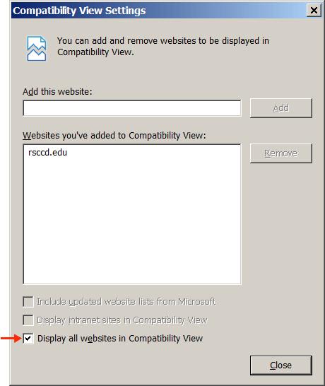 IE Browser Settings